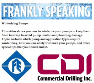 Winterize your pump with the experience of Commercial Drilling, Inc. 256-679-8181
